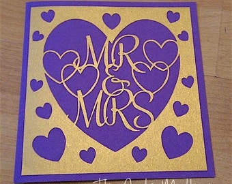 Mr and Mrs Paper Cutting Template - Commercial Use