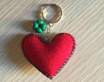 Polymer clay and felt keychains