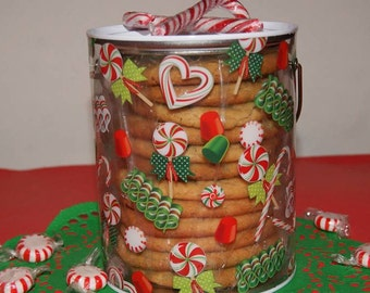 Large Gift Pail of Jumbo Cookies - Custom and season specific decorations