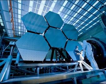 24x36 Poster . James Webb Space Telescope Mirror Segments