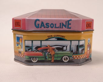 Ian Logan's  Filling Station Tin 1983 made in England