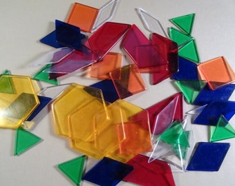 50 Pieces of Plastic Shapes for Craft Projects