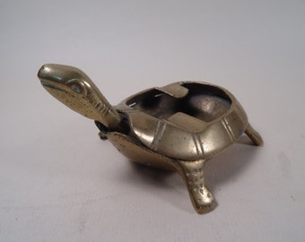 Brass Turtle Ashtray Floating Head