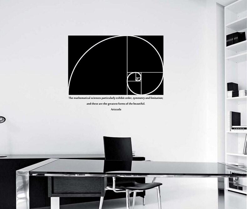 Golden Ratio Wall Decal Design Mural Interior Design Math