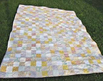 Custom quilt - patchwork quilt - twin bed quilt - queen quilt - king quilt - floral quilt - homemade quilt - reproduction quilt - lap quilt