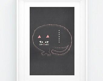 Cat Print ~ Cat Nap Night  ~