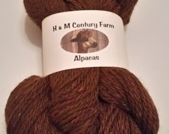 Alpaca Yarn - Worsted Weight - Brown
