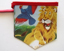 TWO SIDED DISPLAY The Lion's Paw Golden Book  - Vintage Golden Book Bunting -Baby Shower Banner - Birthday Party Decoration - Zoo Banner