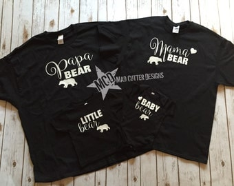 Daddy Bear Papa Bear Mama Bear Little Bear and Baby Bear Family Set