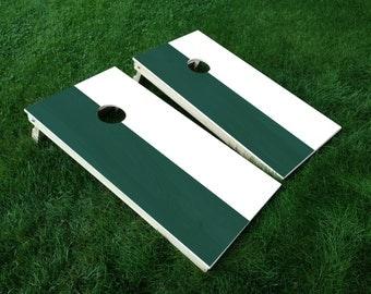 Set of 2 Cornhole Board Decal - Michigan State College Football Colors