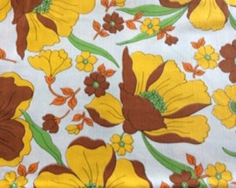 1960s / 1970s c Vintage, Floral flat double sheets X 2. Groovy Baby!!
