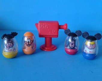 "Vintage Hasbro Toy "" Mickeys Clubhouse Weebles "" 1970's"
