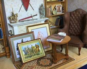 Beautiful handcrafted frames, made entirely by hand, various subjects, 1/12 scale
