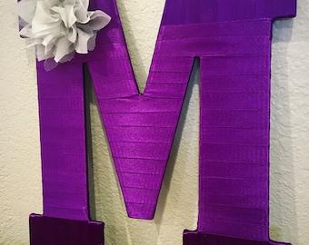 Purple Decor, Wall Letters,  Decorative Letters. Home Decor, Purple Nursery Decor, Purple Gifts, Initial Decor, Purple Baby Shower