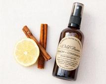 Air Freshener Spray // Lemon & Cinnamon // Handmade with All Natural Herbal Ingredients // Palm Oil Free