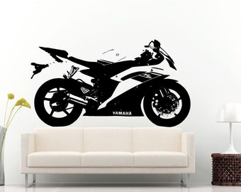 Sport Racing Moto Bike Motorcycle Crotch Rocket Wall Decal Vinyl Sticker Mural Room Decor L1327