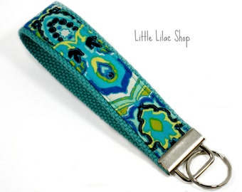 Keychain Wristlet, Paisley, Fabric Key Fob, Fabric Keychain, Wristlet, Key Holder, Fabric Key Chain, Wristlet Key Chain, Key Holder