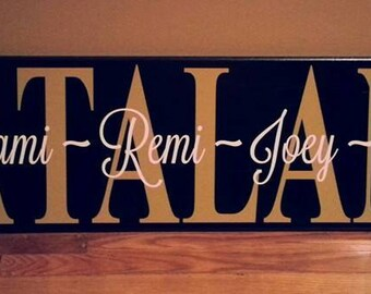 Personalized Family Name Wooden Wall Art