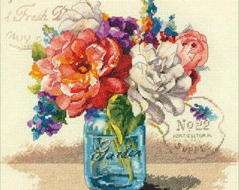 Dimensions Counted Cross Stitch Kit - Garden Bouquet, #70-35334