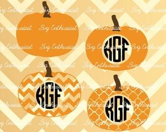 Pumpkin Monogram frames SVG, Pumpkin Svg, Halloween Svg, Pumpkin Monogram SVG, Cricut, Dxf, PNG, Vinyl, Eps, Cut Files, Vector,