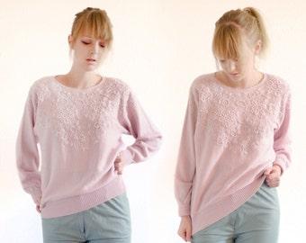 Pink 80's vintage jumper
