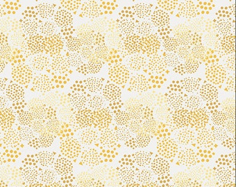 Art Gallery - Anna Elise - Geo Mist Gold - ANE-77507 - Bari J - White - Gold - Geo - Novelty