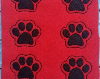 UNCUT Paw Print Felties Embroidered Felt Embellishments - Proceeds to animal rescue charities
