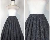 SALE, 20% OFF Vintage 1950s 1960s Rainbow Tweed Frank Lee of California Pleated Pinup Skirt 50s 60s Grey Full Swing Circle Secretary Skirt C