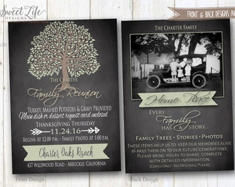 Family Reunion Invitation   Thanksgiving Dinner Invite   Rustic Country  Church Dinner   Tree Of Life  Invitations For Family Reunion