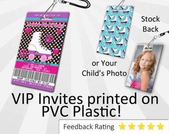 Roller skate Invitation PLASTIC Roller skate, Roller skate Invitation, Birthday Invitation, Birthday Invite Roller skate Birthday SKU-INV229
