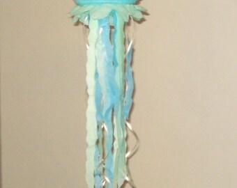 "light blue Jellyfish Paper Lanterns 8"". Party Decorations, Baby Shower, Room Decor, nursery decor."