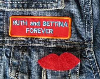 Six feet under patch, Ruth and Bettina forever - Embroidered Six feet under patch, Ruth Fisher patch, Six feet under badge