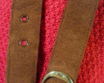 Ultrasuede women's belt