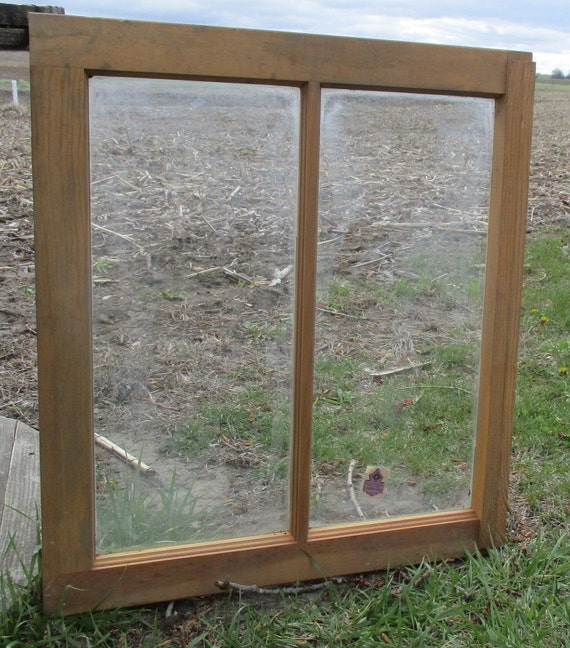 Items similar to old wood window frame 2 glass panes for 2 pane window