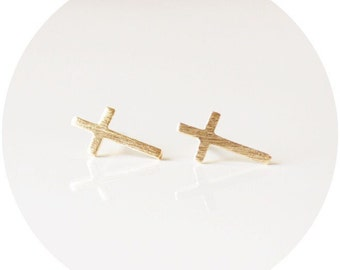 Dainty Cross Earrings