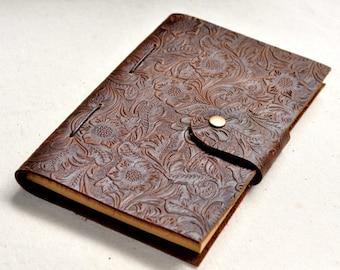 leather flower Journal notebook Graduation  Gift for Her  Gift for Sister Birthday Gift mon gift