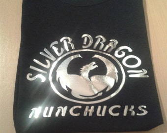 silver dragon nc tshirt with flowtricks4life on the back