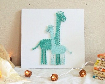 Giraffe Nursery String Art