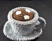 Tea/Cocoa Cup and Saucer - Blue Cream Mix/Tea Cup