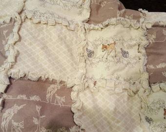 Bambi crib size rag blanket
