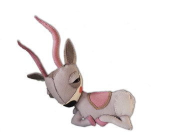 Alexa the Gazelle - handmade plush creature toy - children birthday gift