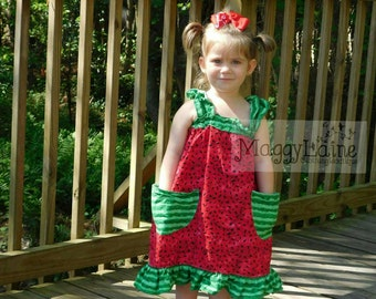 The Harper Watermelon dress