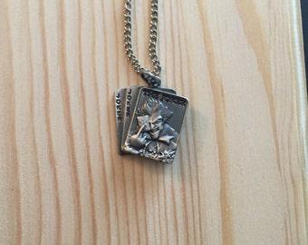 Joker Charm Keychain or Necklace