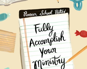 Fully Accomplish Your Ministry 2 Timothy 4:5 - Pioneer Service School Wire Bound Notebook, JW Gift, Pioneer Gift, Jehovah's Witnesses