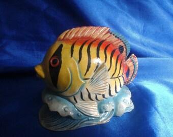 Tropical Fish Money Box (Piggy Bank) Papper Mache
