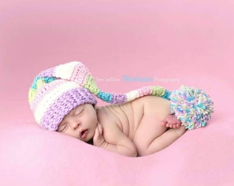 Elf Hat Crochet Pattern - All Sizes - Newborn to Adult - CROCHET PATTERN ONLY - Stocking Hat - Photography Prop - Cute Family Elf Hats