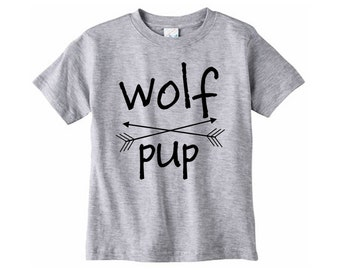Wolf Pup Shirt // Children's clothing - Graphic tee - Family shirt set - Wolf pup tshirt - Wolfpack