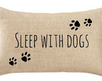 PAW PRINTS PILLOW,Dogs, Dog Lover,Pets