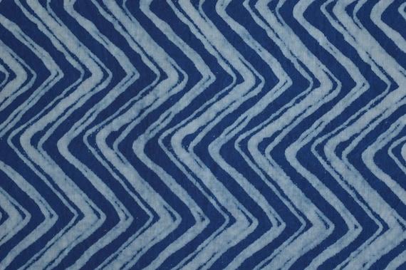 Indigo Fabric Cotton Fabric Printed Cotton Hand Block