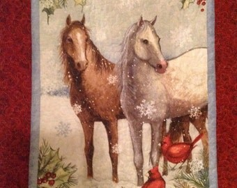 Winter/Christmas horse quilt